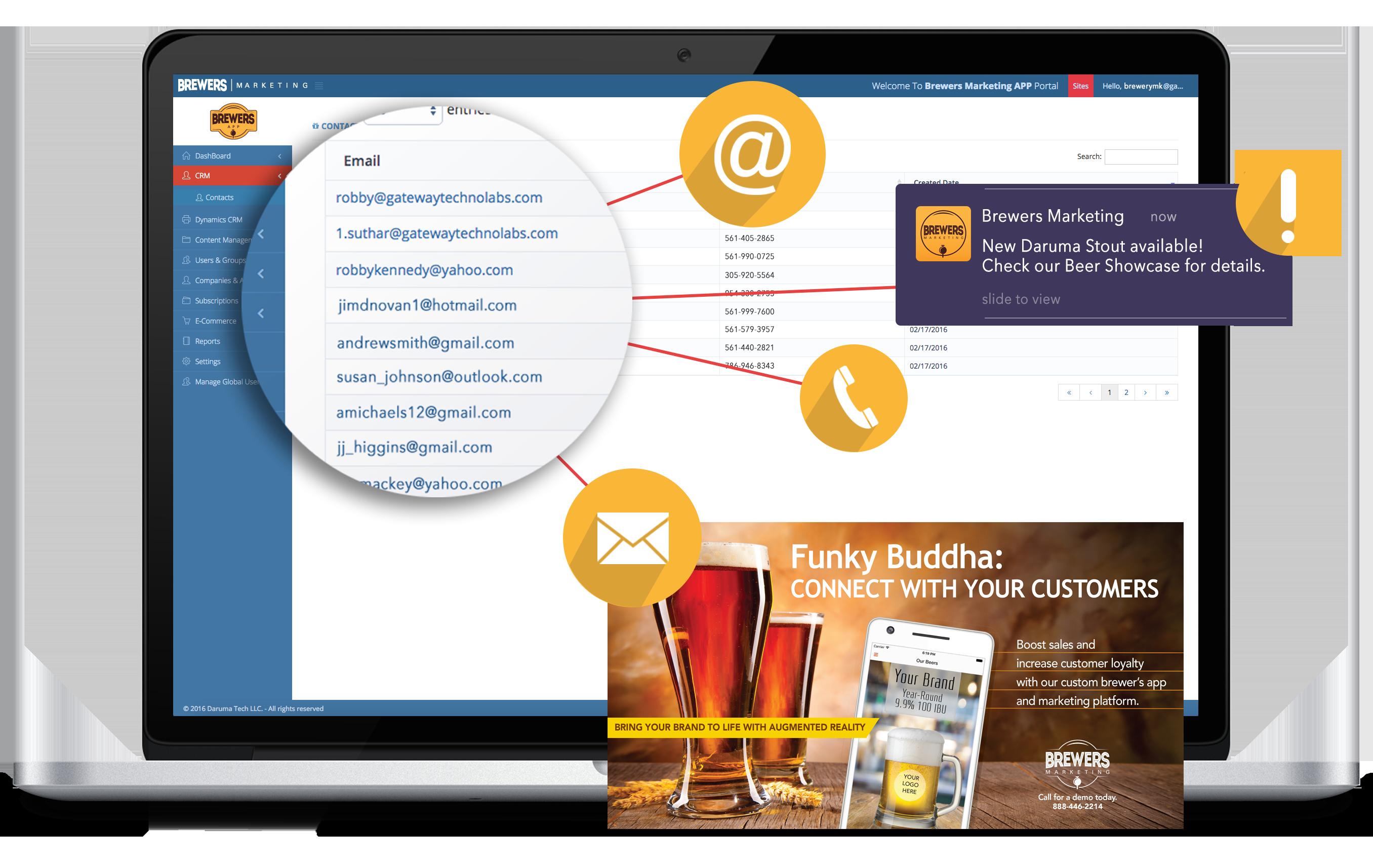 Brewers Marketing Customer Engagement screenshot