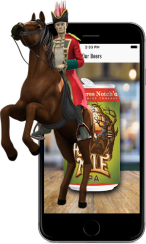 Augmented Reality example from Brewers Marketing app