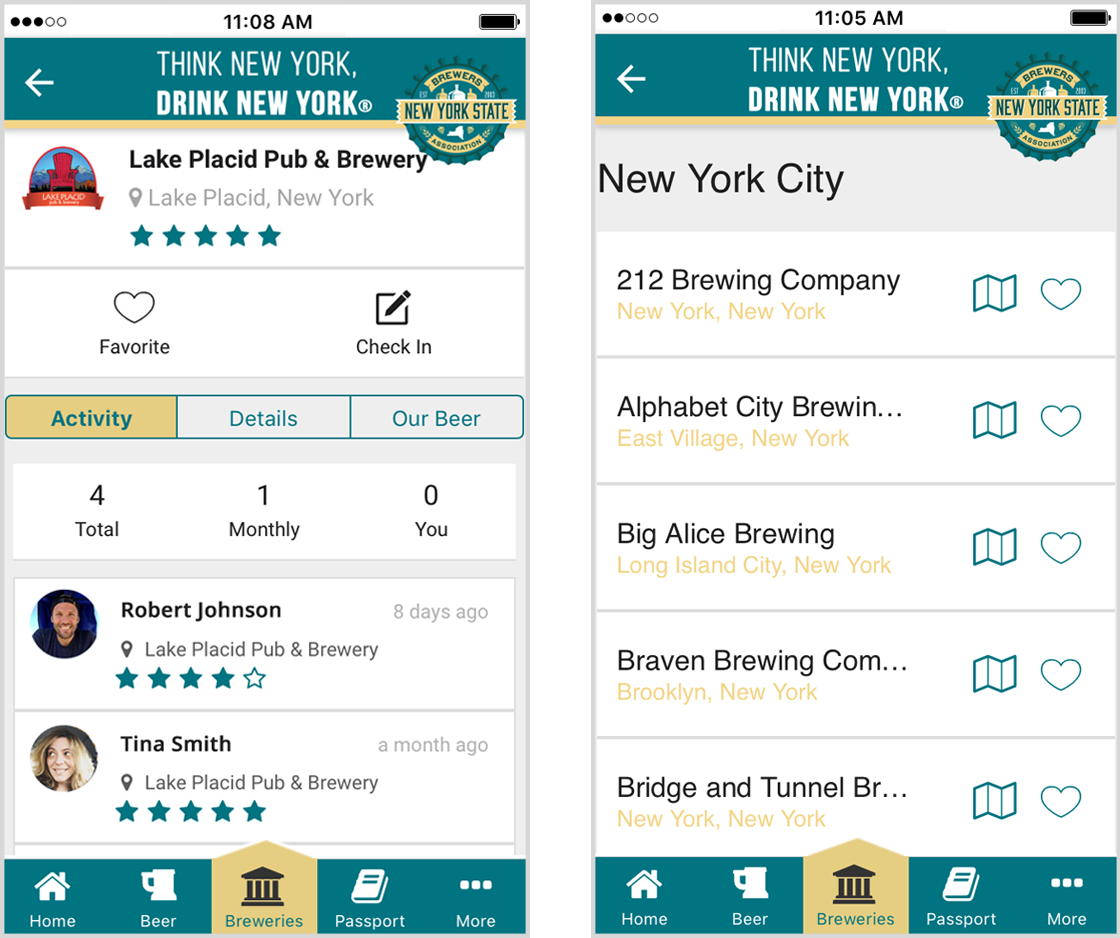 Brewers Directory in Brewers Marketing NY app